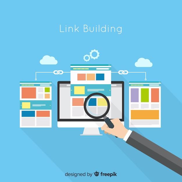 Link concetto di costruzione Vettore gratuito