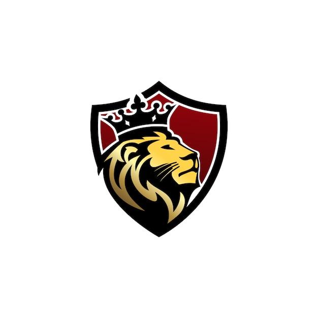 Lion logo vector template Vettore Premium