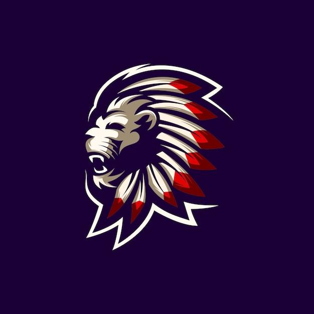 Lion logo vettoriale Vettore Premium