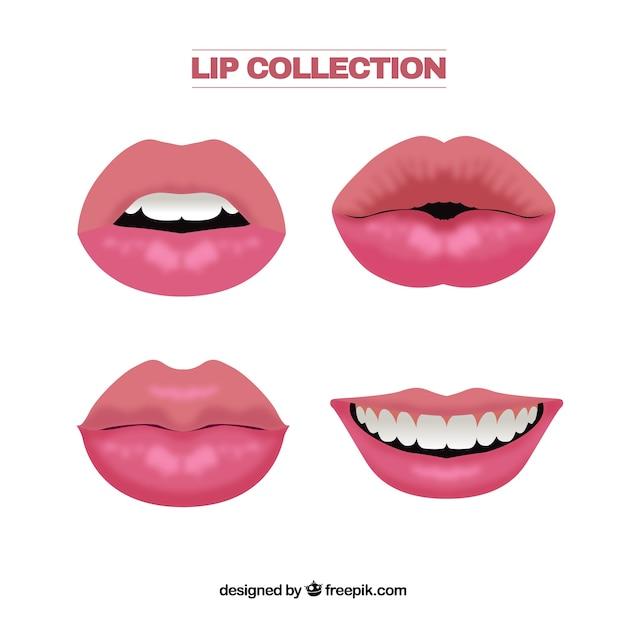 Lip collectio Vettore gratuito
