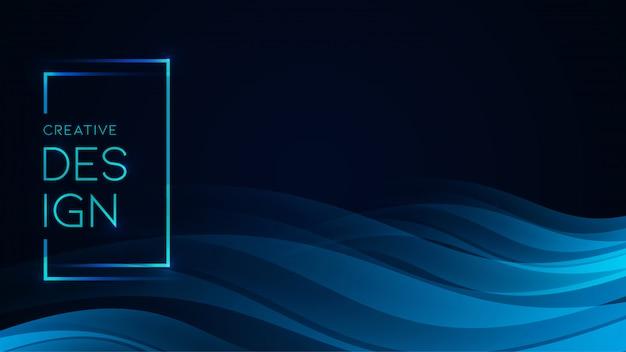Liquido astratto scorre sfondo Vettore Premium