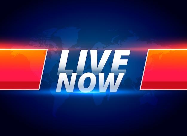 Live ora lo streaming delle notizie di sottofondo Vettore gratuito