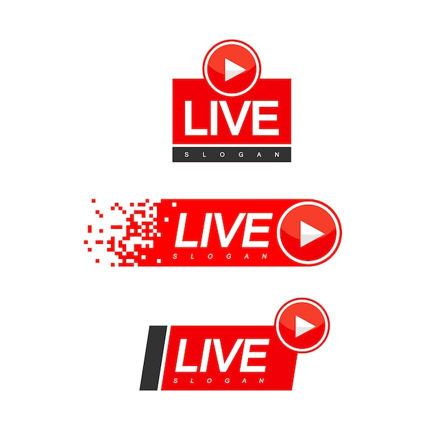 Live streaming design vector Vettore Premium