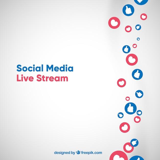 Live streaming in background Vettore gratuito
