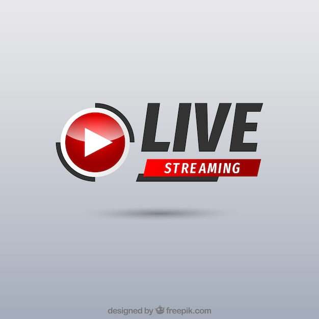 Live streaming in background Vettore gratuito