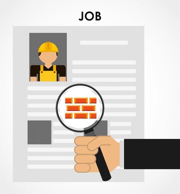 Lo scambio di lavoro Vettore Premium