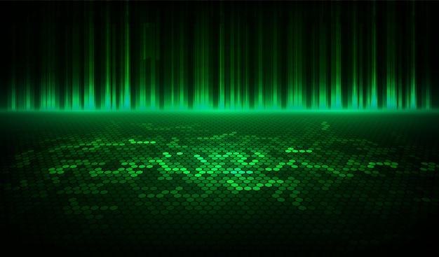 Lo sfondo verde mezzitoni astratto è costituito da diversi esagoni. Vettore Premium
