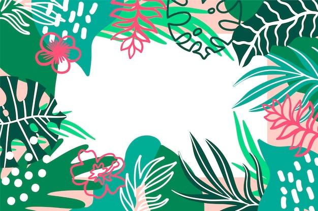 Lo stile tropicale lascia il fondo Vettore gratuito