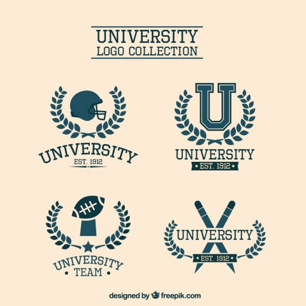 Loghi universitari eleganti Vettore gratuito