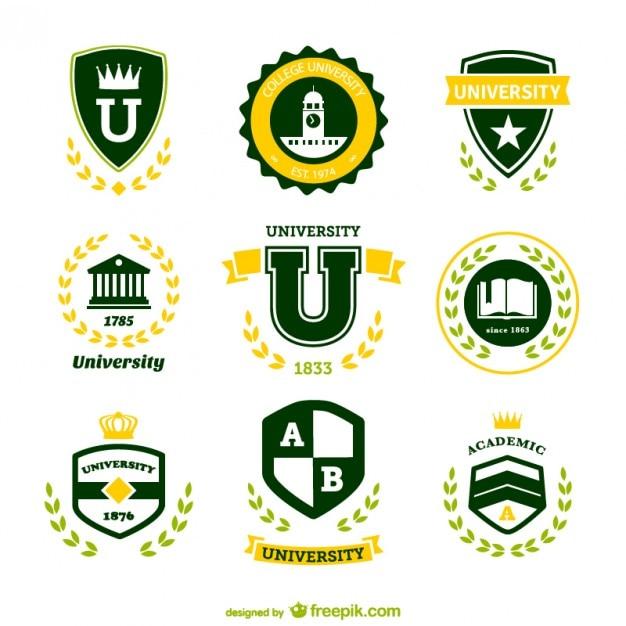Loghi vettoriali universitari libero Vettore gratuito