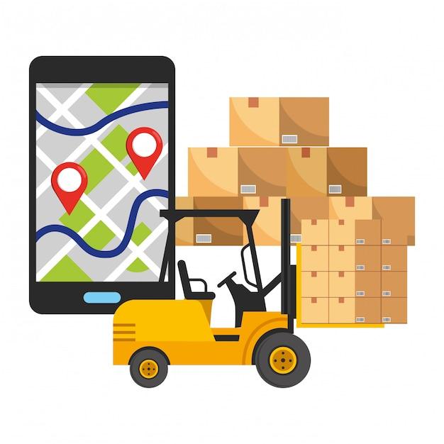 Logistica di spedizione del servizio di tracciabilità della consegna Vettore Premium