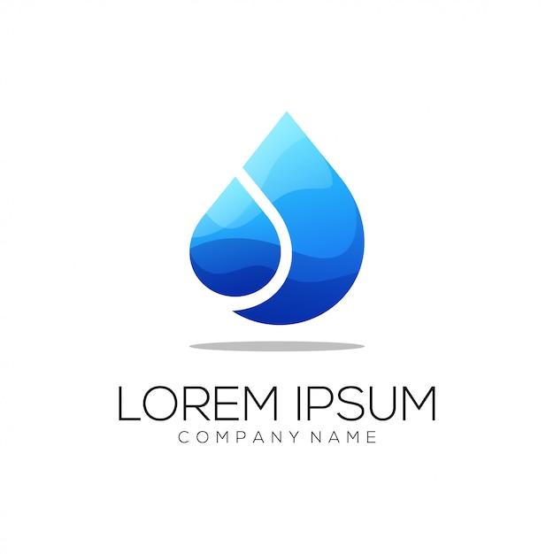 Logo acqua Vettore Premium