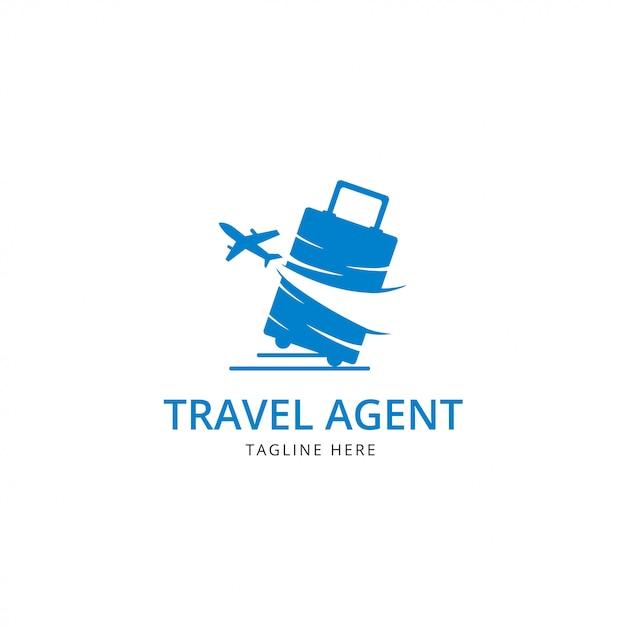 Logo agenzia di viaggi Vettore Premium