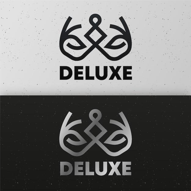 Logo astratto in un concetto di due versioni Vettore gratuito