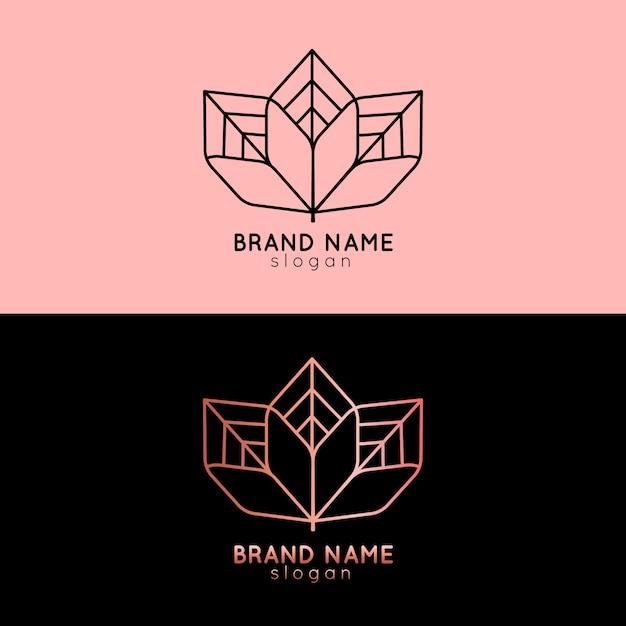 Logo astratto in un modello di due versioni Vettore gratuito