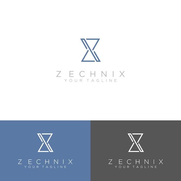 Logo astratto, lettera iniziale z Vettore Premium