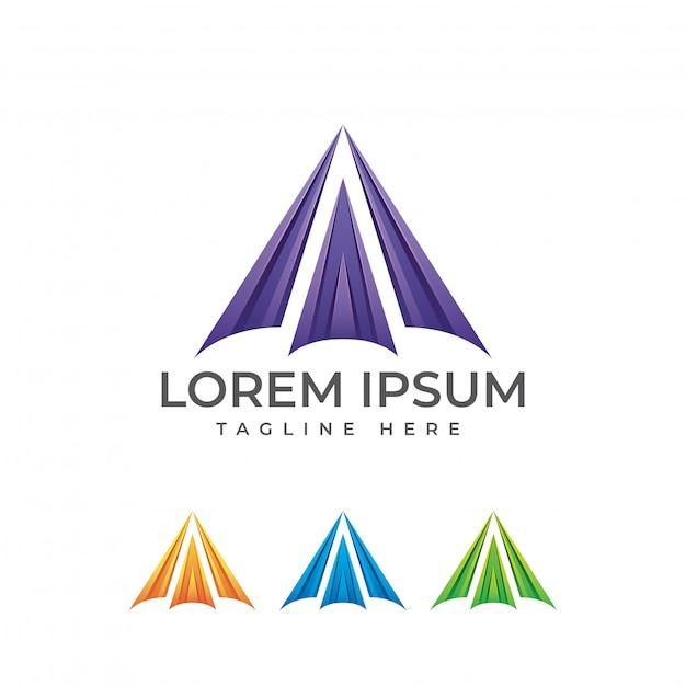 Logo astratto moderno lettera a Vettore Premium
