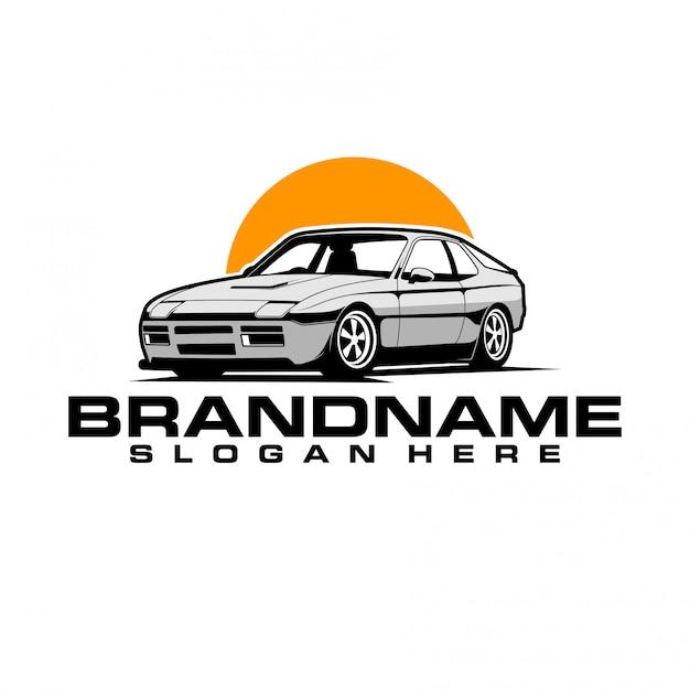 Logo auto classica Vettore Premium