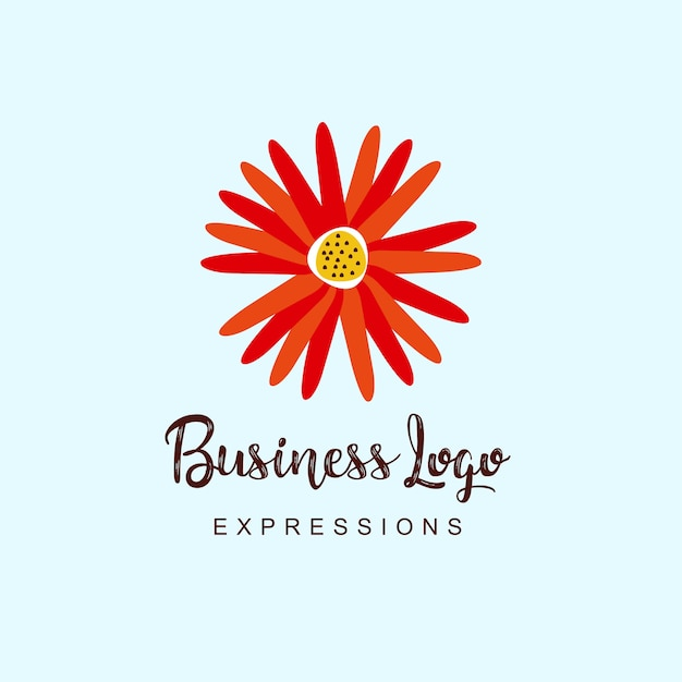 Logo aziendale di fiori Vettore Premium