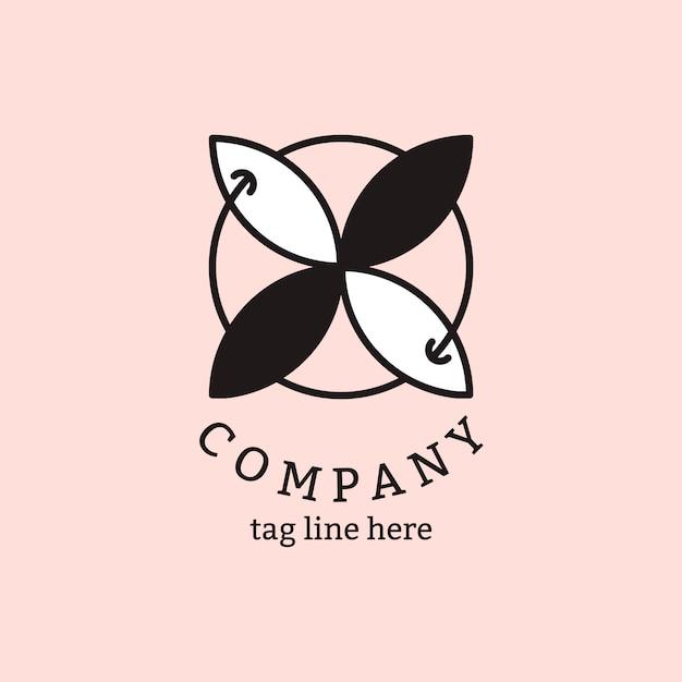 Logo aziendale sul rosa Vettore gratuito