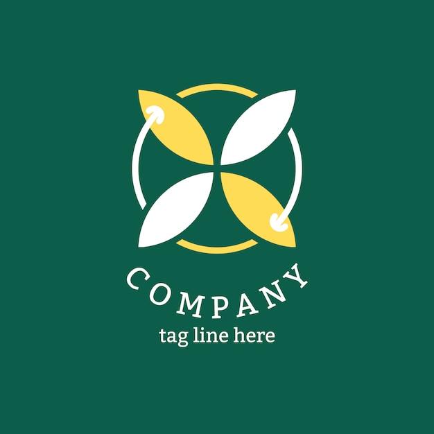 Logo aziendale verde Vettore gratuito