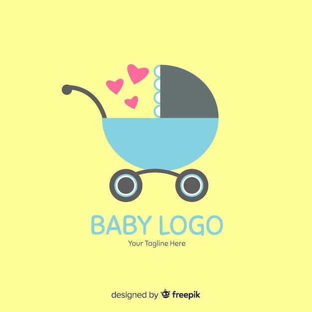 Logo bambino piatto Vettore gratuito
