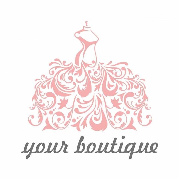Logo boutique Vettore Premium
