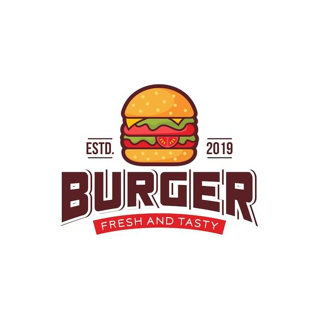 Logo burger Vettore Premium