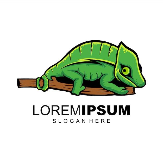 Logo camaleonte Vettore Premium