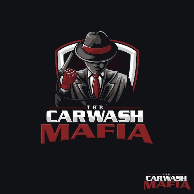 Logo car wah mafia Vettore Premium