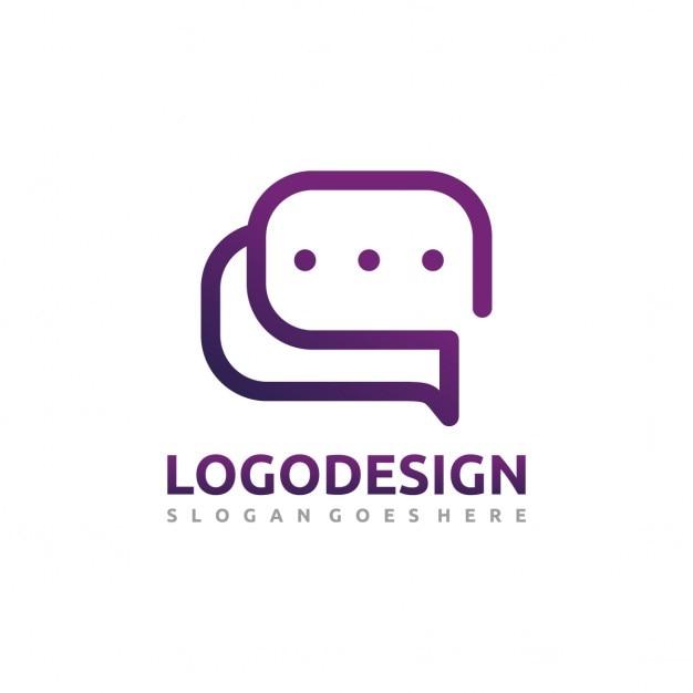 Logo chat Vettore gratuito