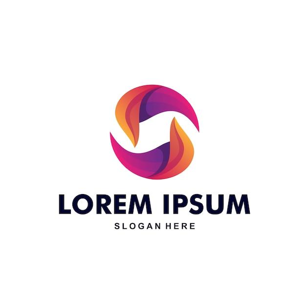 Logo colorato astratto lettera s premium Vettore Premium
