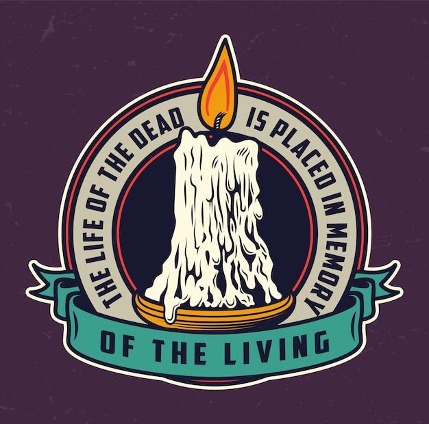 Logo colorato vintage day of dead Vettore gratuito
