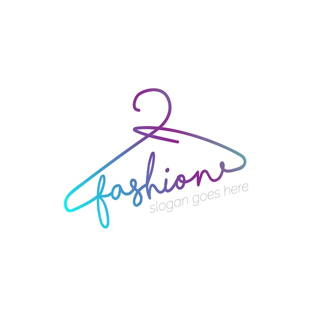 Logo con disegno appendiabiti Vettore gratuito