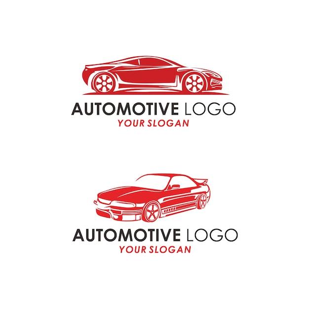 Logo concept automobilistico Vettore Premium