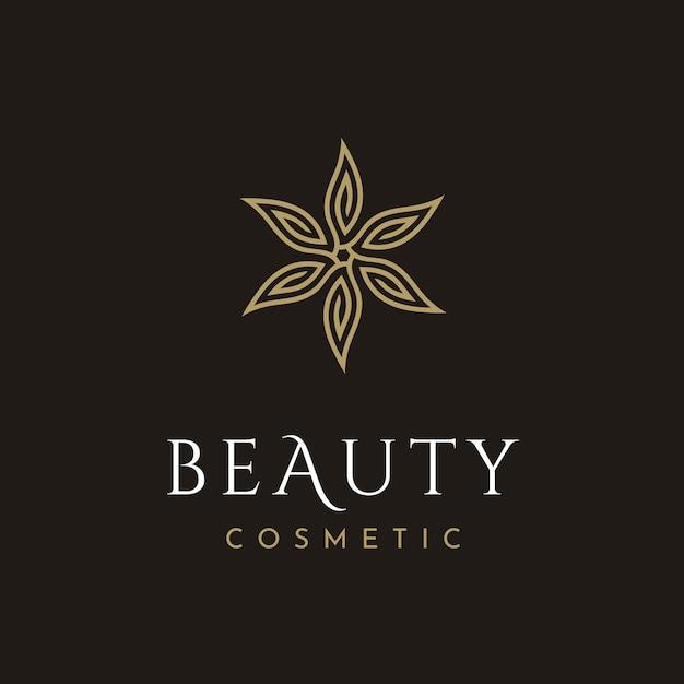 Logo cosmetico di bellezza Vettore Premium