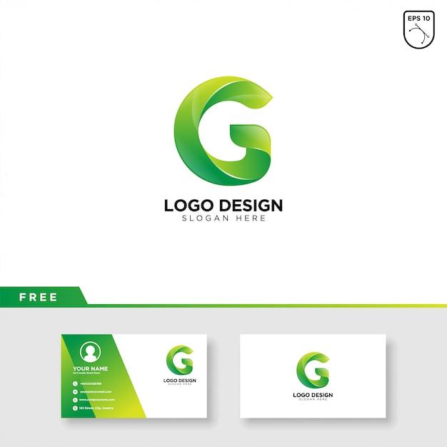 Logo creativo della lettera g con sfumatura di colore Vettore Premium