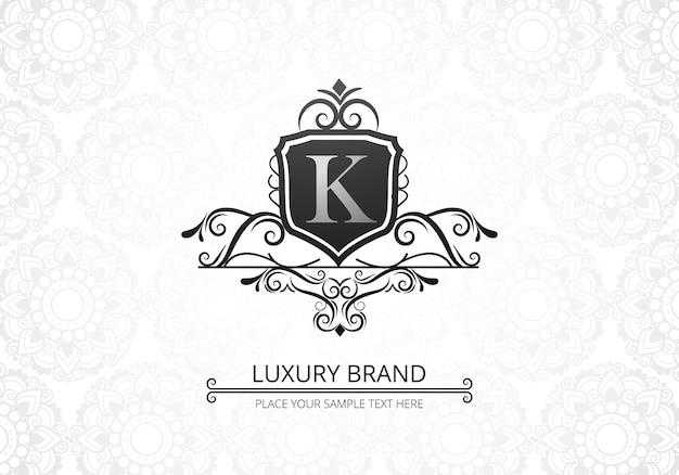 Logo creativo di lusso premium lettera k per azienda Vettore gratuito