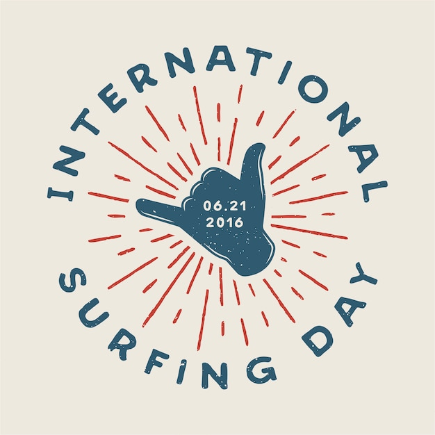Logo da surf Vettore Premium