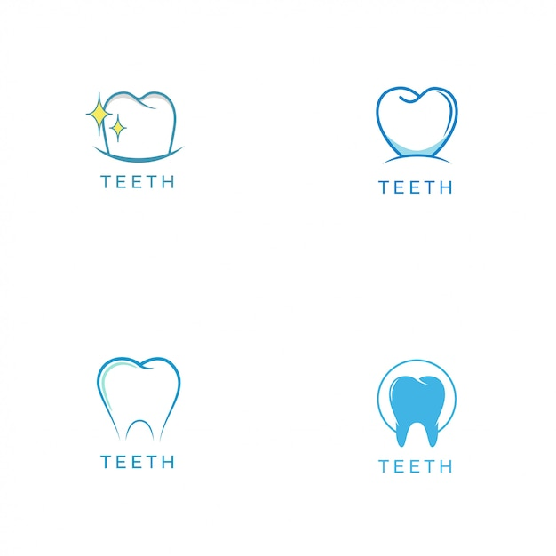 Logo dei denti Vettore Premium
