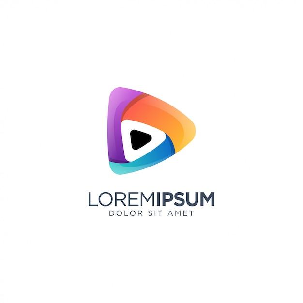 Logo dei media musicali Vettore Premium