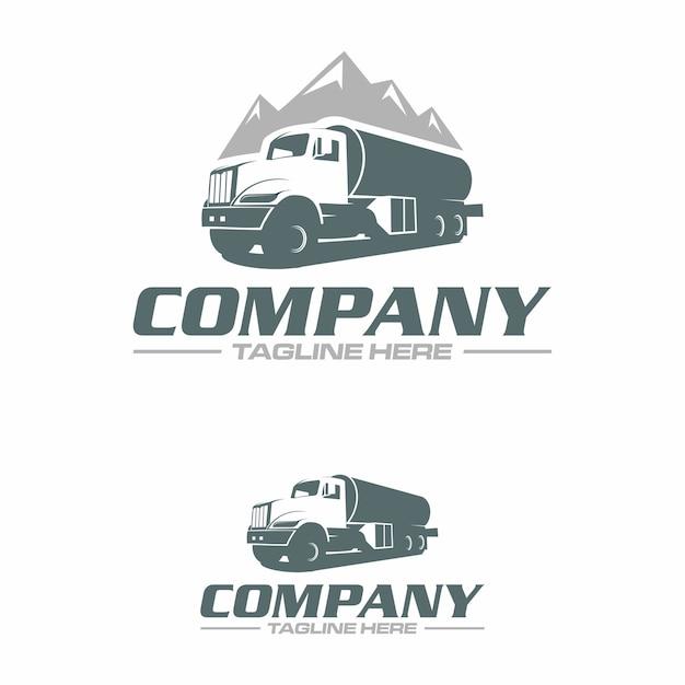 Logo del camion d'acqua Vettore Premium
