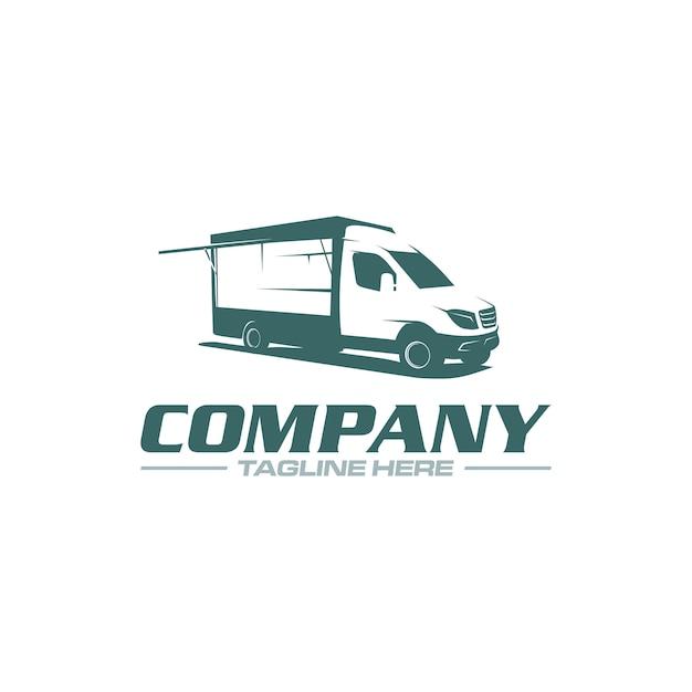 Logo del camion di cibo Vettore Premium