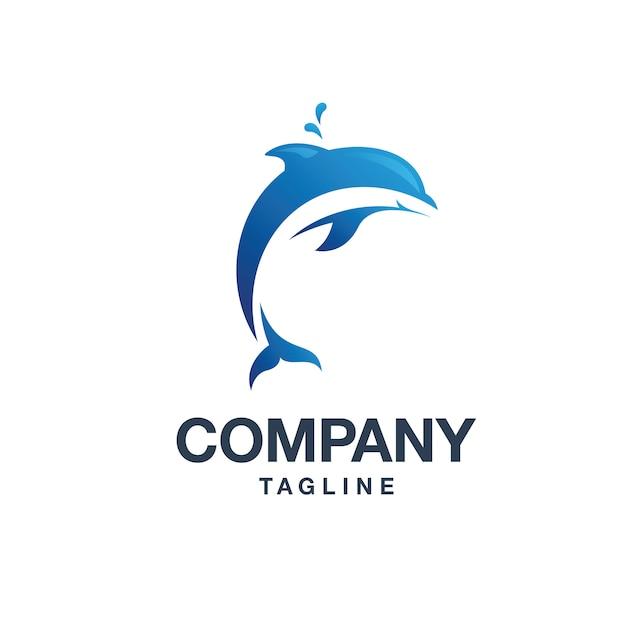 Logo del delfino Vettore Premium