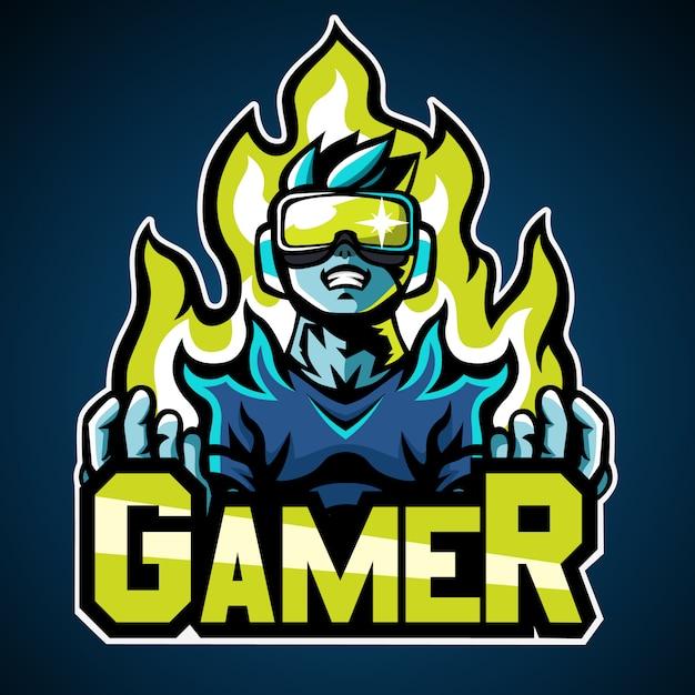 Logo del giocatore Vettore Premium