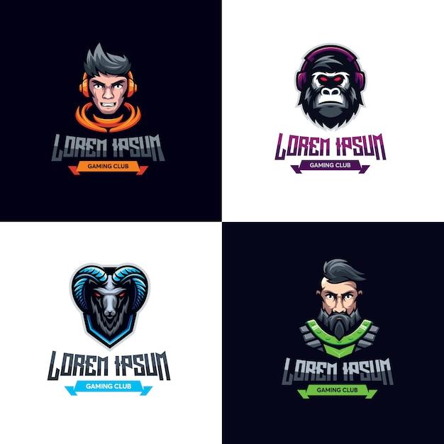 Logo del gioco premium bundle Vettore Premium