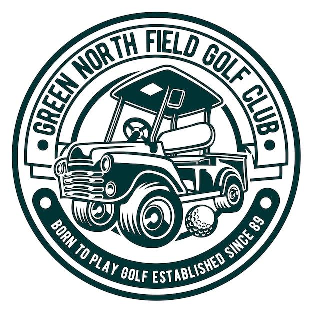 Logo del golf club Vettore Premium