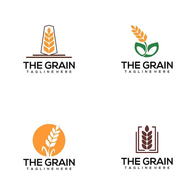 Logo del grano Vettore Premium