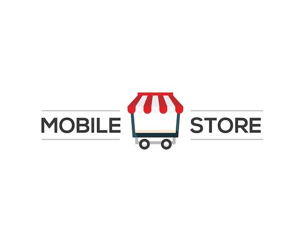 Logo del negozio mobile Vettore Premium