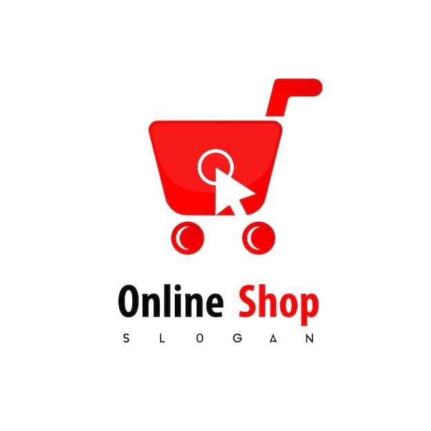 Logo del negozio online Vettore Premium